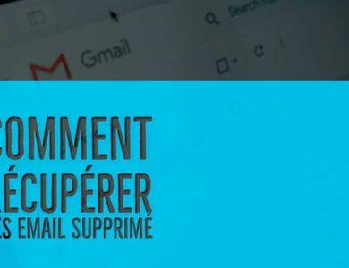 comment recuperer des email supprimé