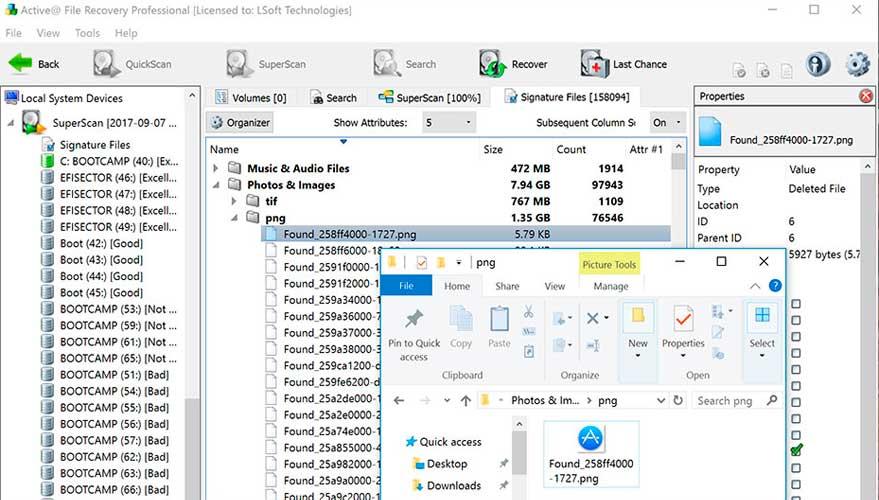 recuperer fichier supprimé disque dur externe
