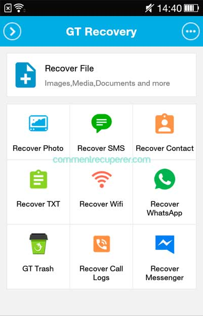 recuperer sms android